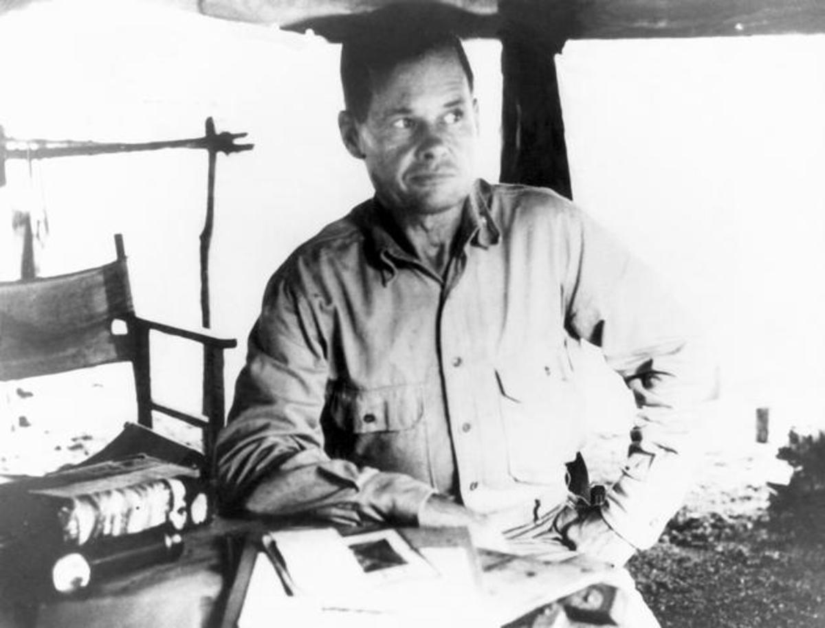 """Chesty"" Puller at Guadalcanal."