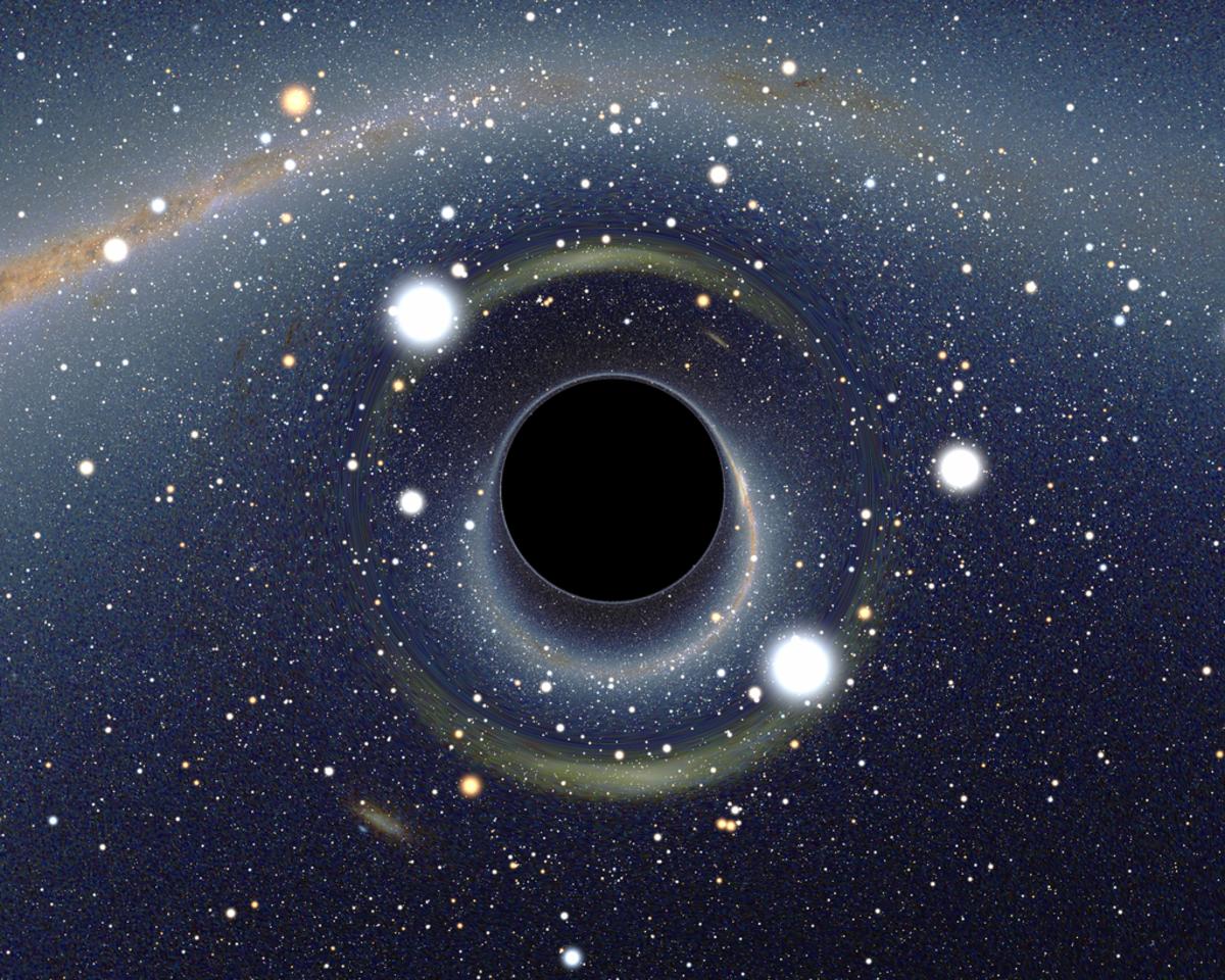 Artist rendering of black hole.