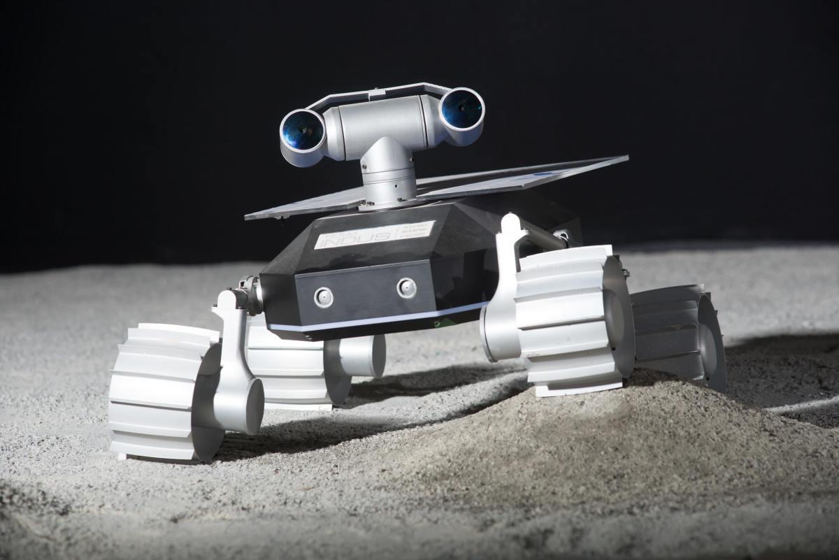 Team Indus' rover.