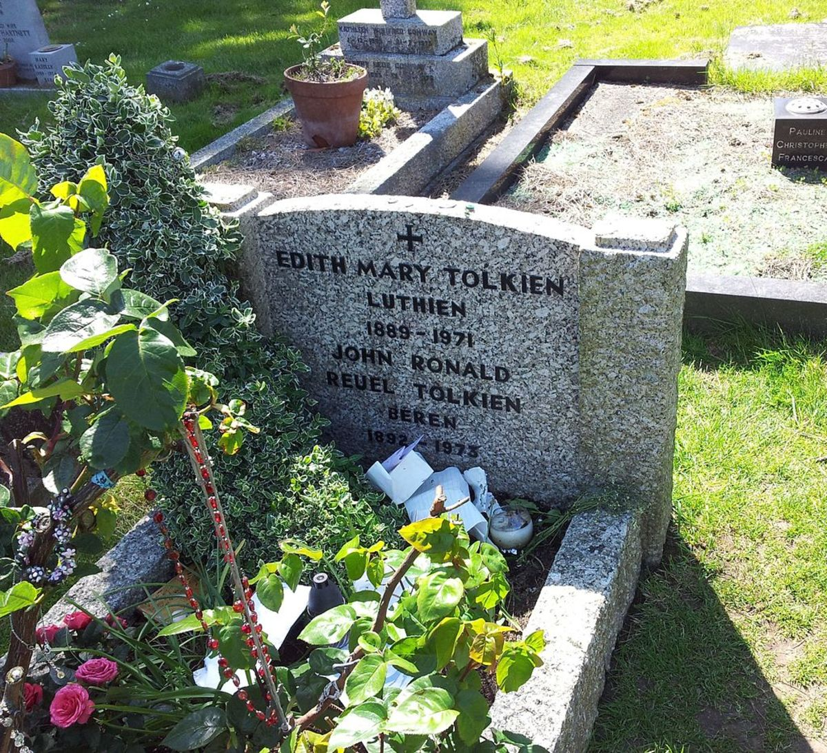 Tolkien and his wife's grave.