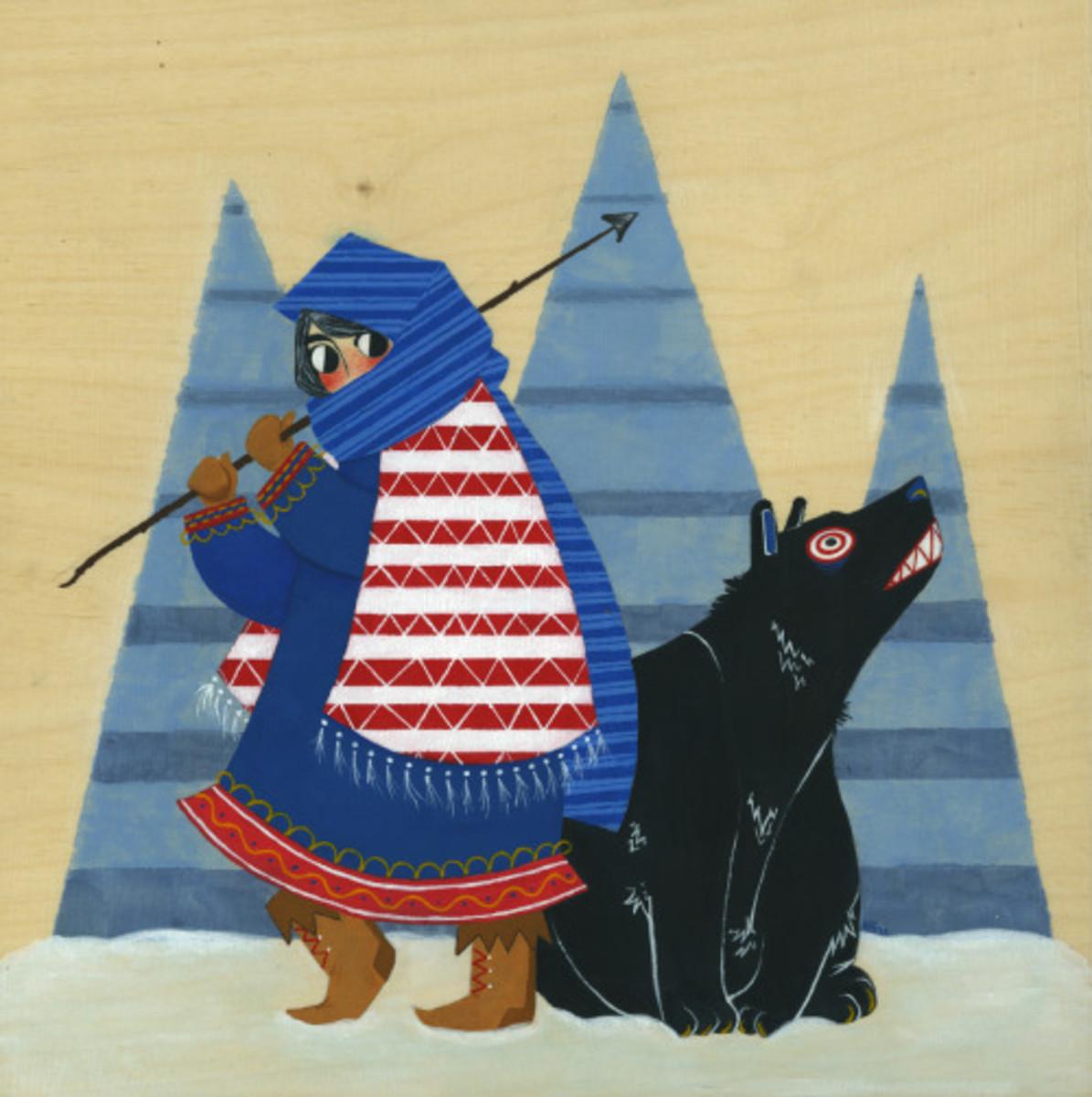 By Hannah Lee Stockdale: Leib-Olmai and hunter
