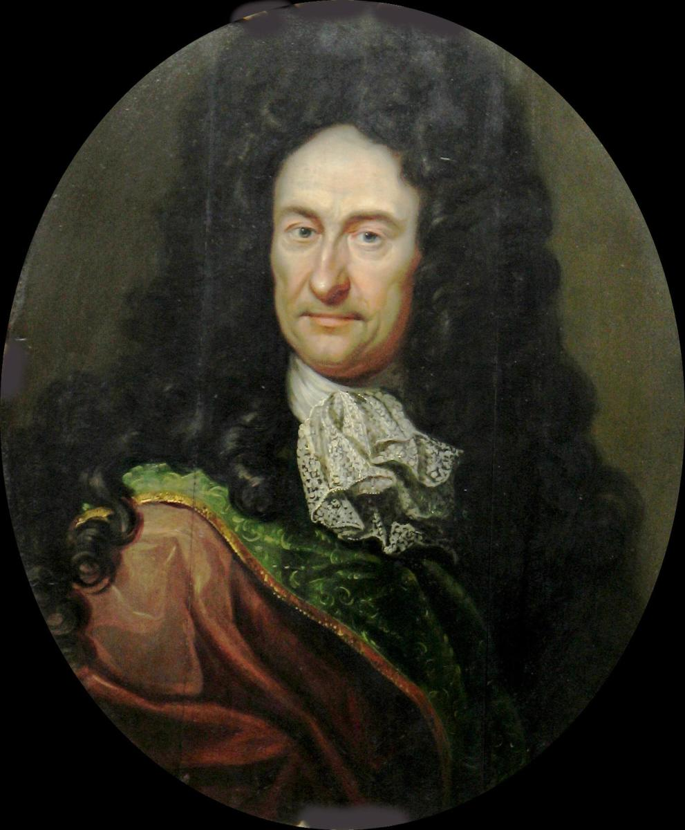 Gottfried Wilhelm von Leibniz (1646 - 1716), a German philosopher and mathematician.