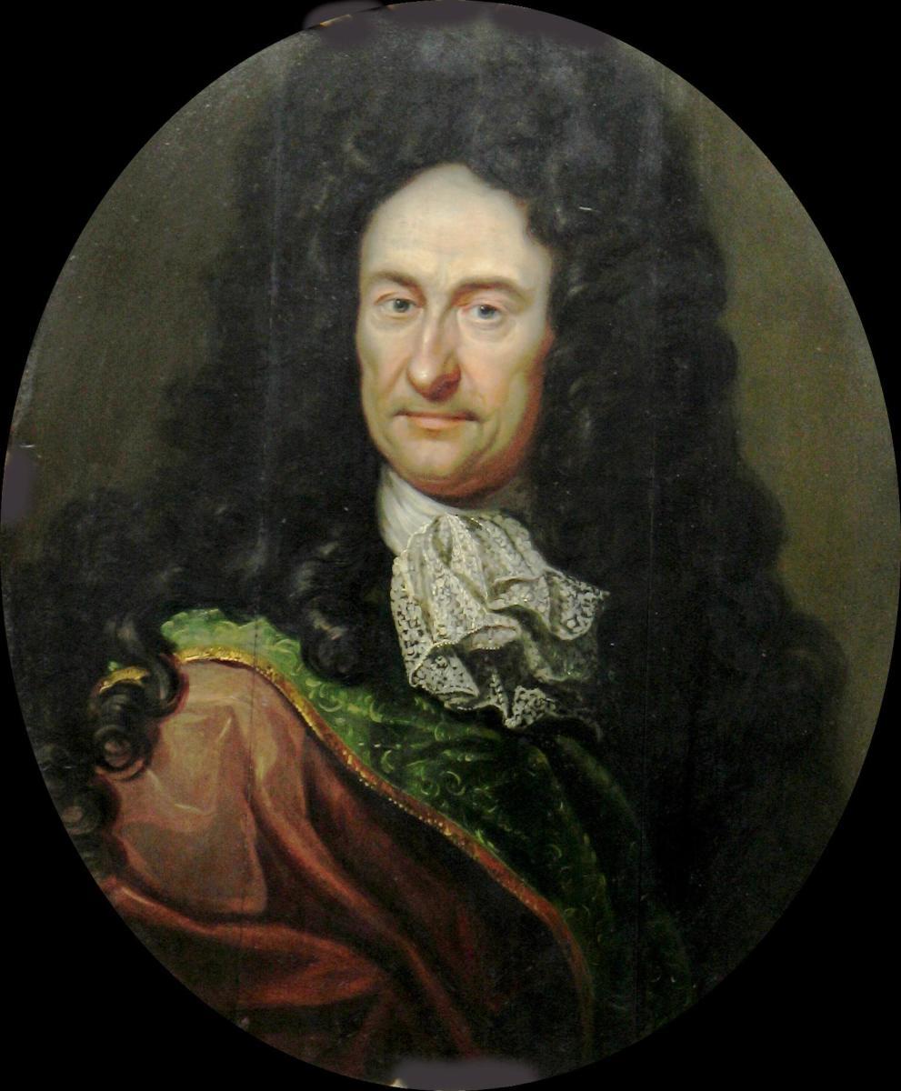 Gottfried Wilhelm von Leibniz (1646 - 1716), a German philosopher and mathematician.