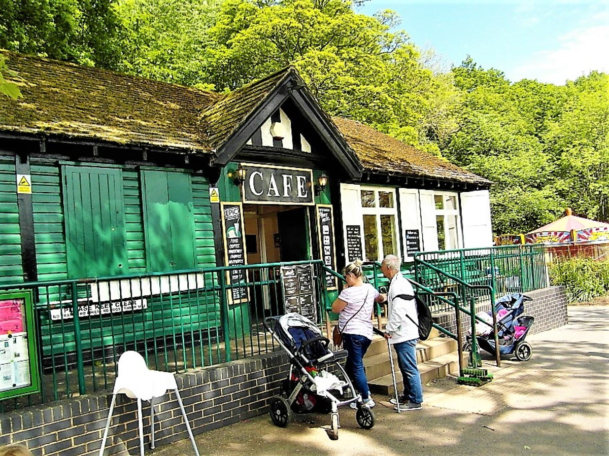 The pavilion from the 1940s is now a busy café.