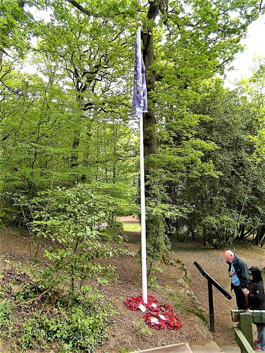 The 'Mi Amigo' flagpole.