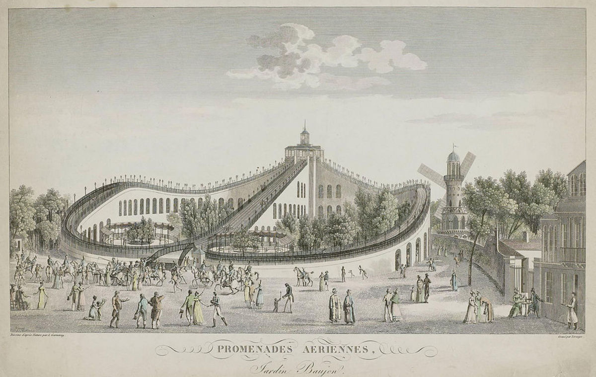 The Promenades-Aériennes in Paris roller coaster of 1817.