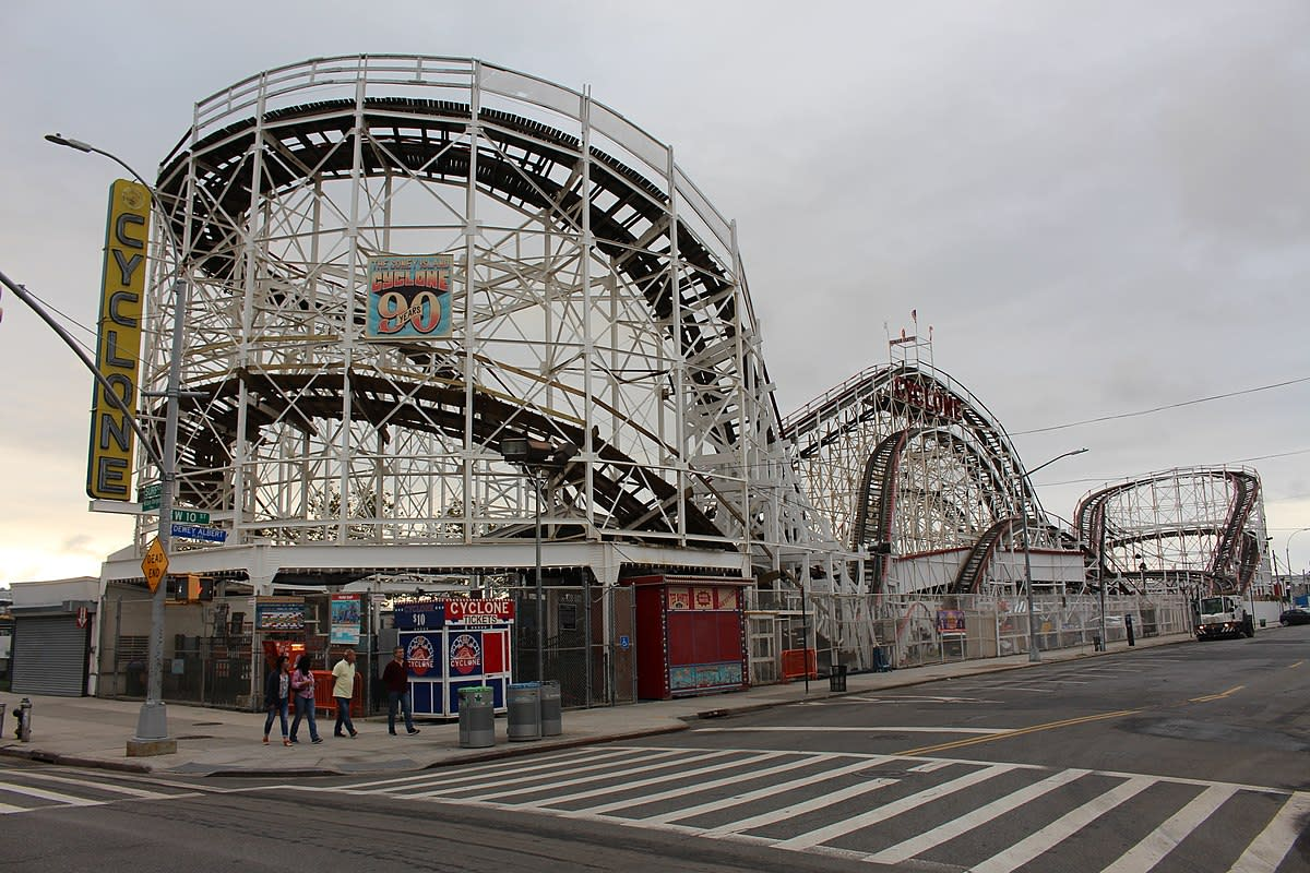 Coney Island's Cyclone opened for business in 1927.