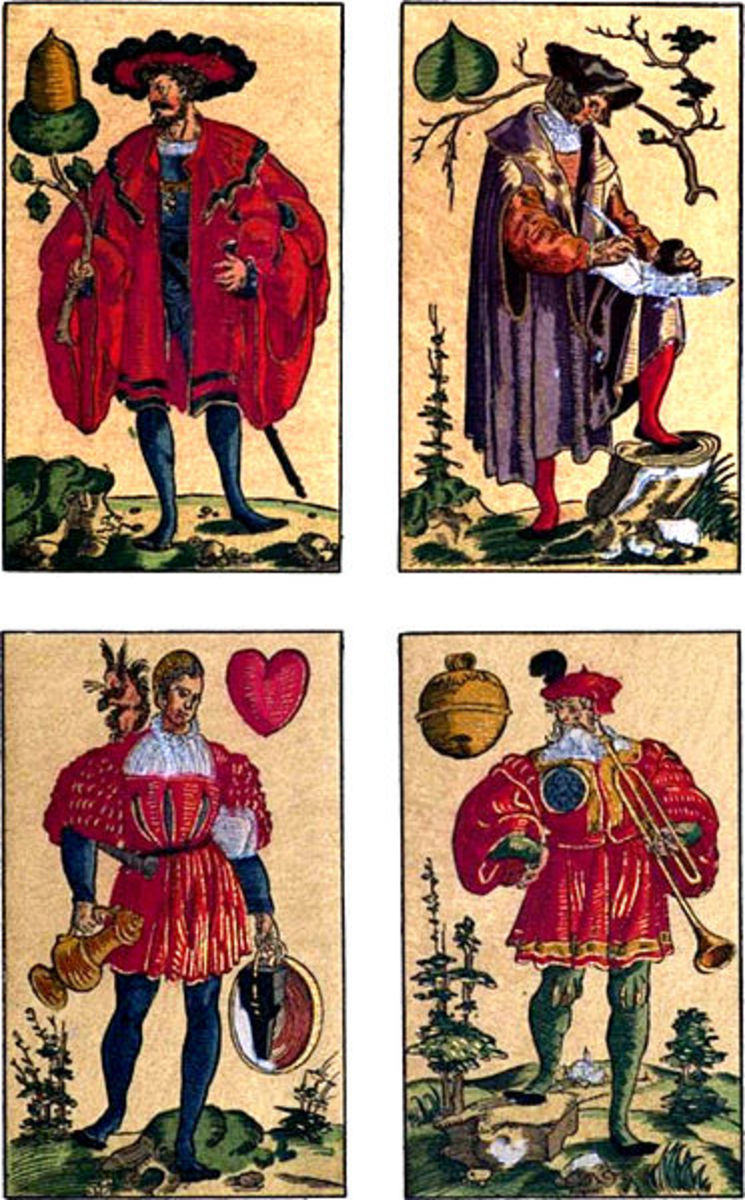 Hearts Suit on German Card Deck of 1545