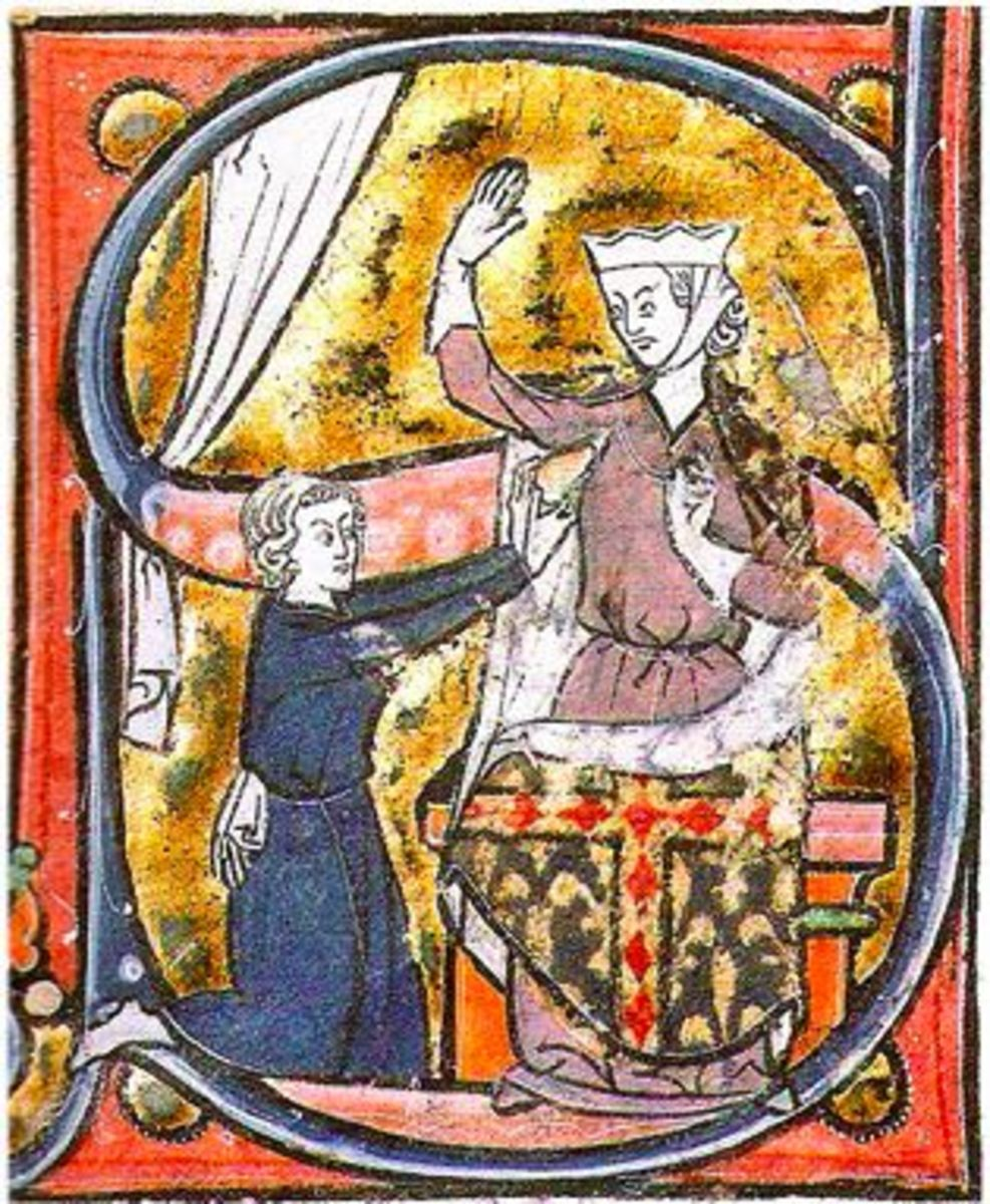 Roman de la Poire - suitor offers his heart?