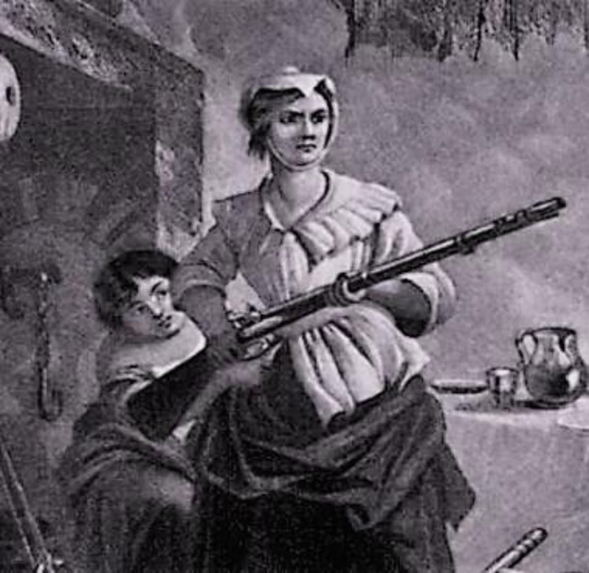 When British soldiers invaded her home, Nancy managed to seize on of their guns and killed one man and captured the rest.