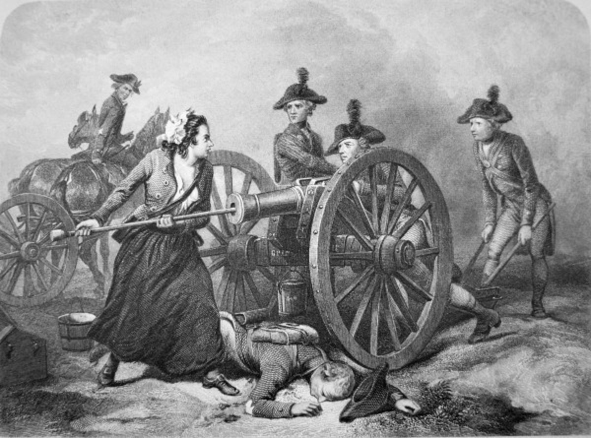 Molly Pitcher is the legend of a woman who jumped into battle after her husband was hit by enemy fire.