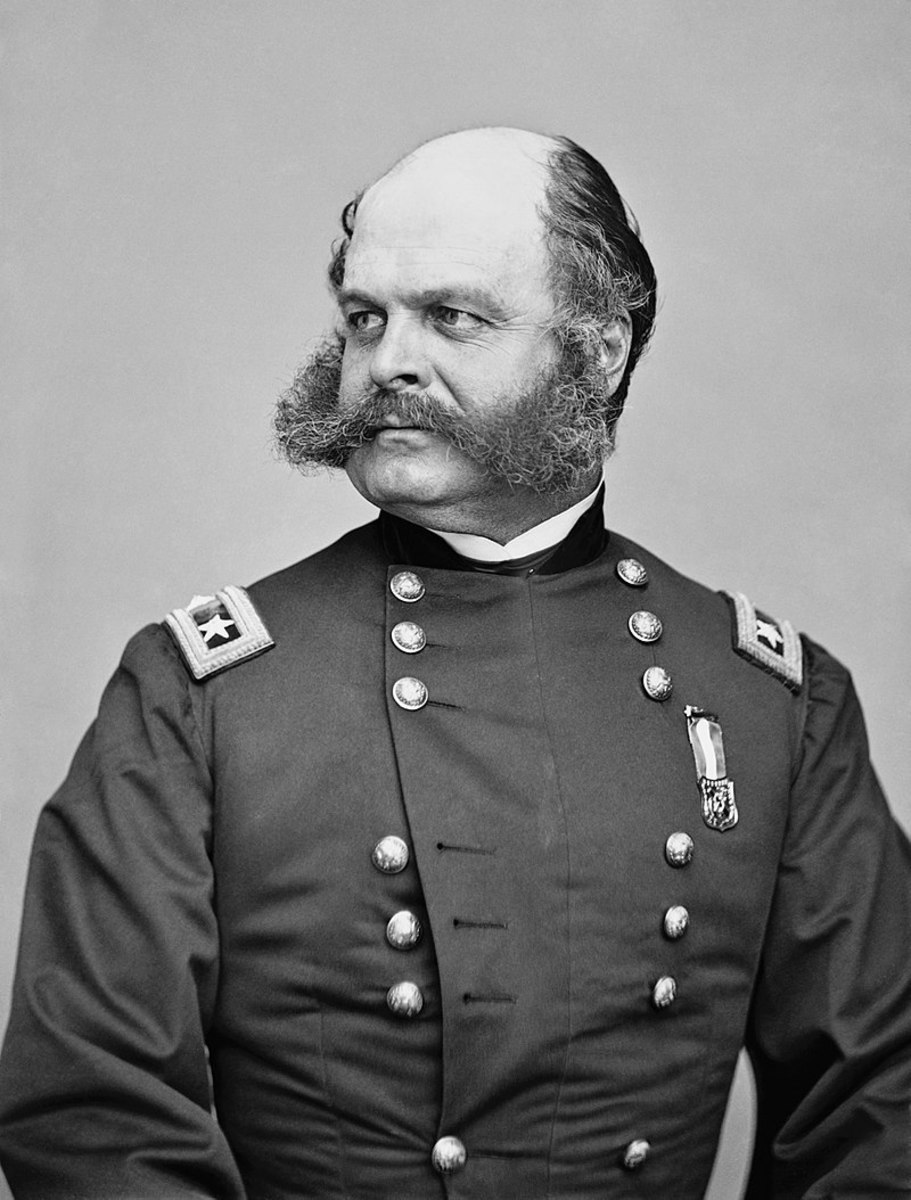 General Burnside and his fine set of whiskers.