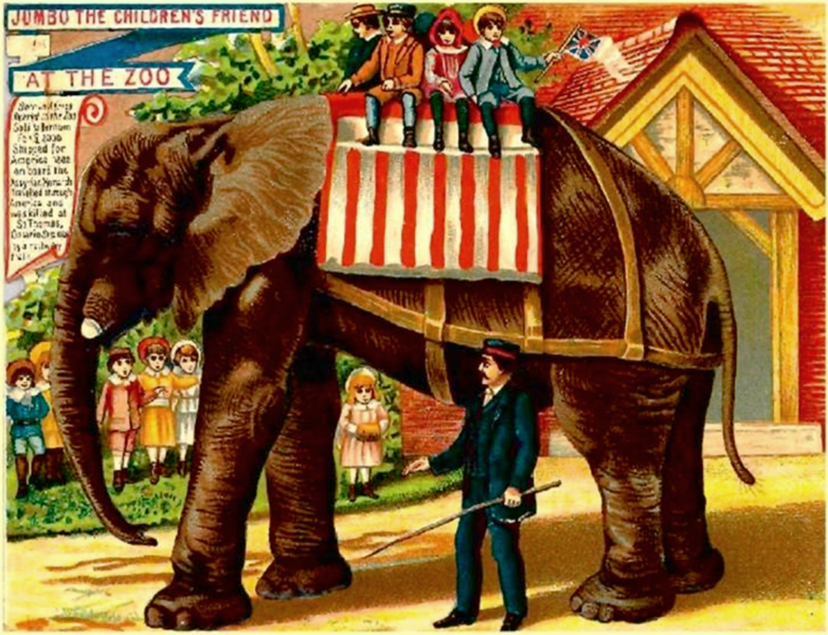 Jumbo's size was always greatly exaggerated in promotional posters.