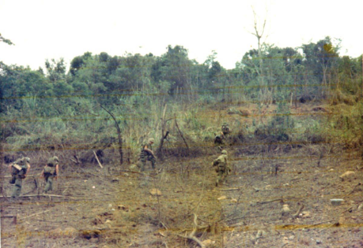 Marines begin the trek up Mutter's Ridge