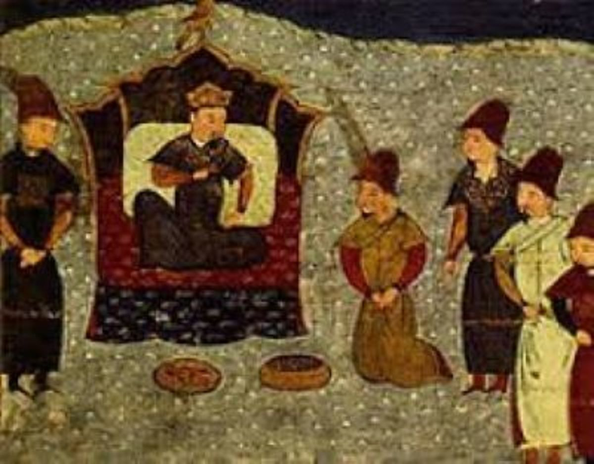 Depiction of Batu and the Golden Horde.