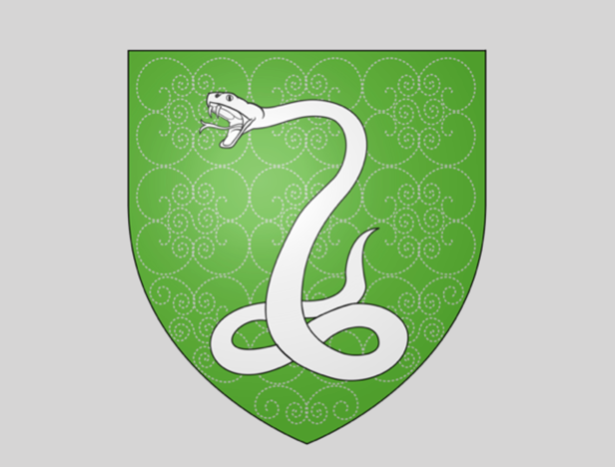 The crest of Slytherin House is a serpent, symbolising cunning and ambition