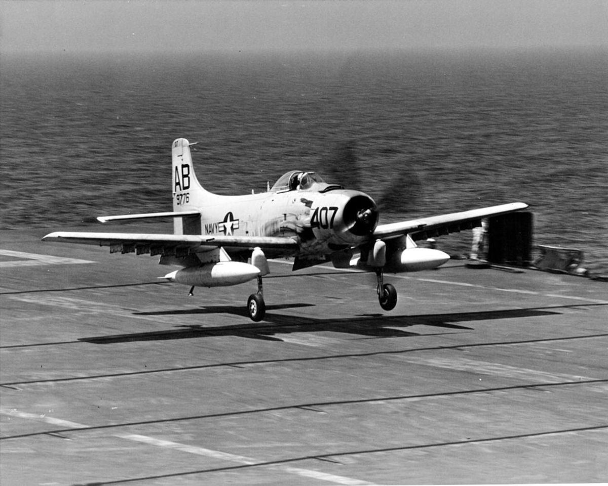 Navy A-1 Skyraider; Same plane flown by Dieter Dengler during the Vietnam War.
