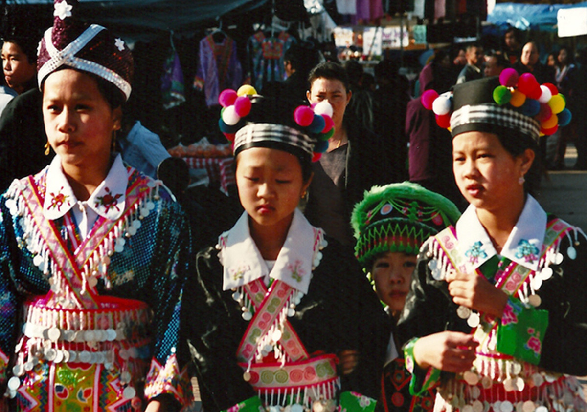 Girls in their beautiful unique traditional dress.