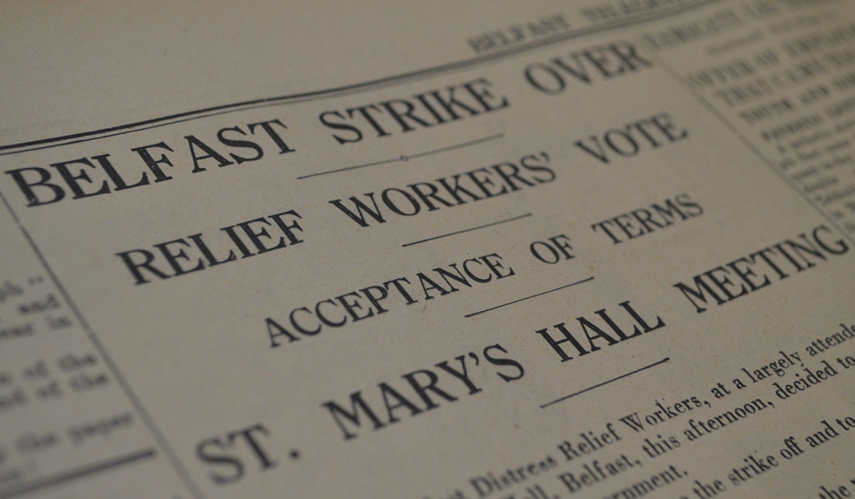 The Belfast Telegraph announces the end of the strikes