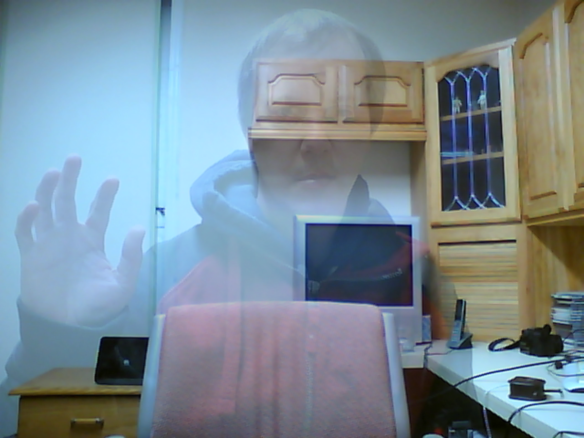 See through effect using a transparent image.