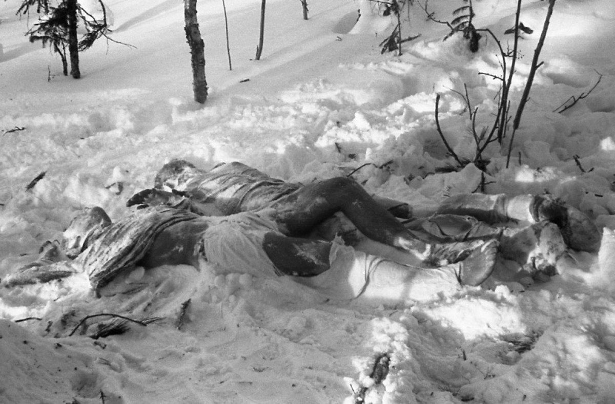 A few of the bodies found in the snow.