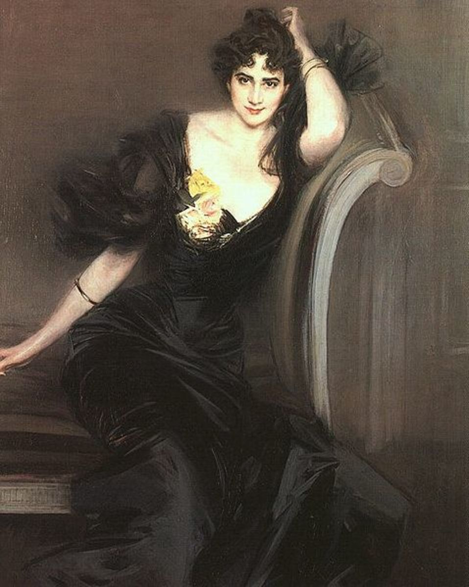 Lady Colin Campbell painted by Giovanni Boldini in 1897.