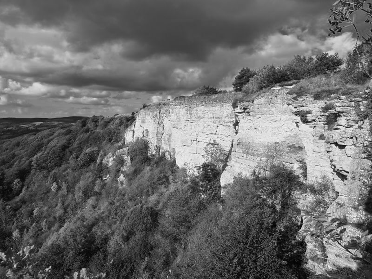 The windswept North York Moors of Wuthering Heights