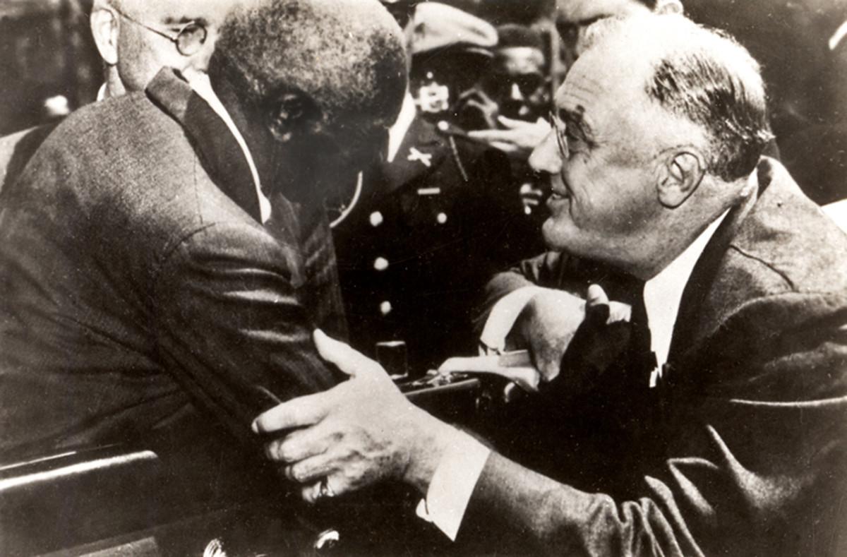 George Washington Carver and President Franklin Delano Roosevelt.