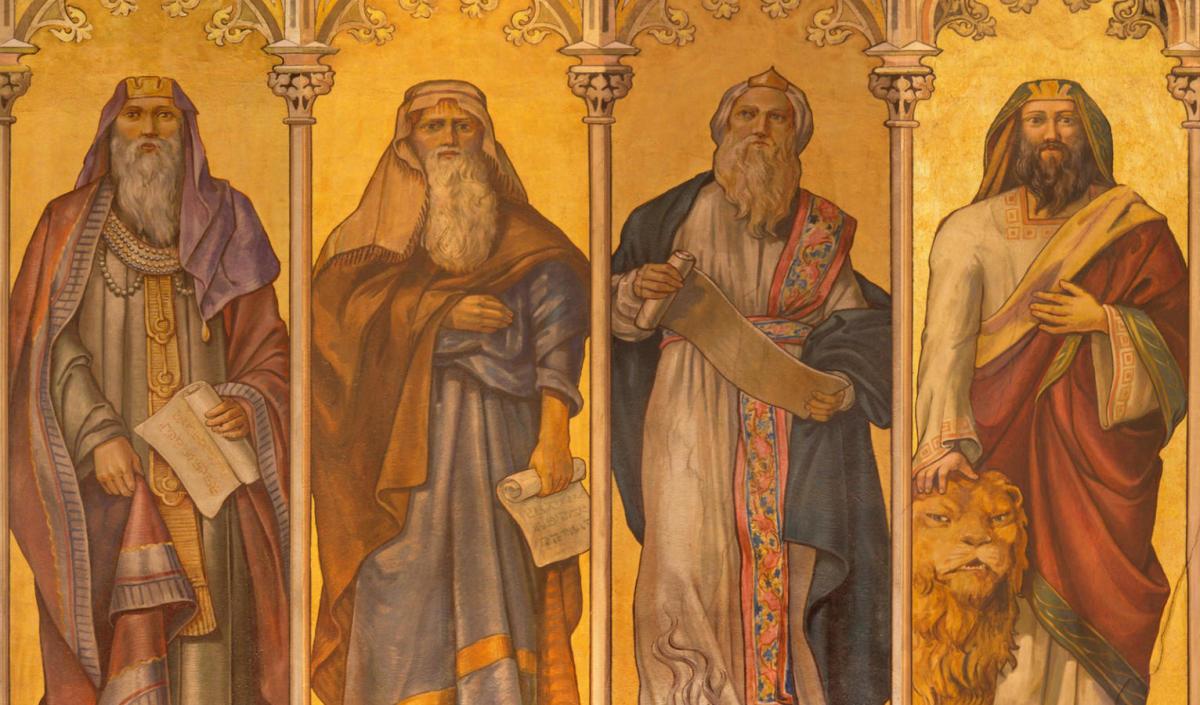 Fresco of prophets Isaiah, Jeremiah, Ezekiel and Daniel