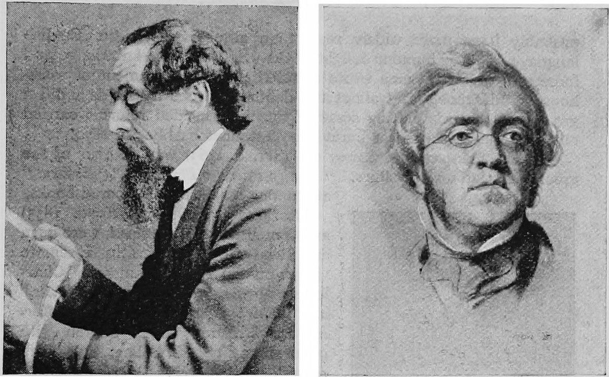 Dickens (left) and Thackeray.
