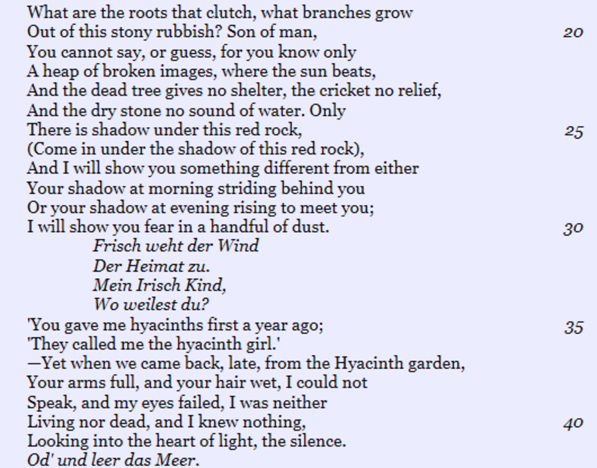 Analysis Of The Poem The Waste Land By Tseliot Owlcation