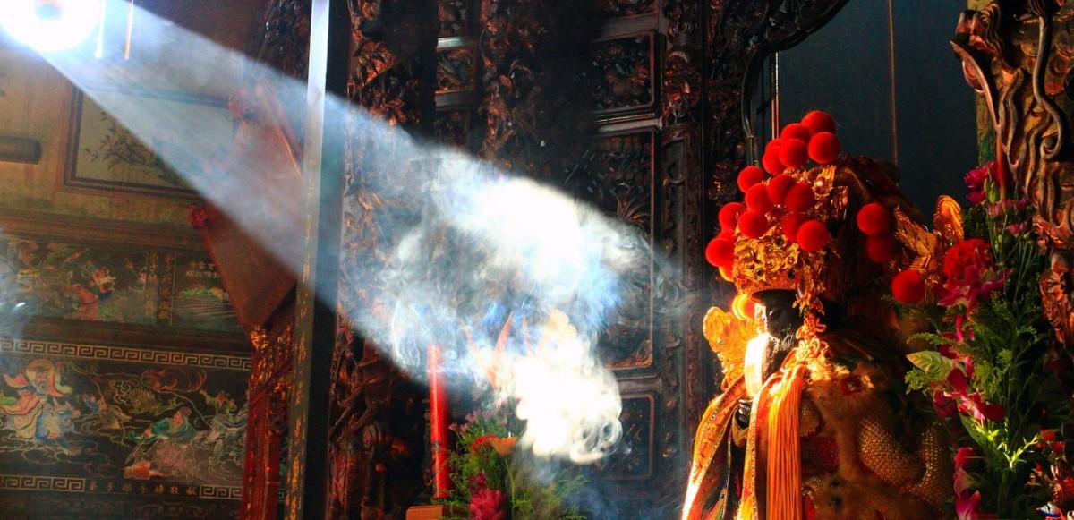 A Taoist temple honoring Mazu.
