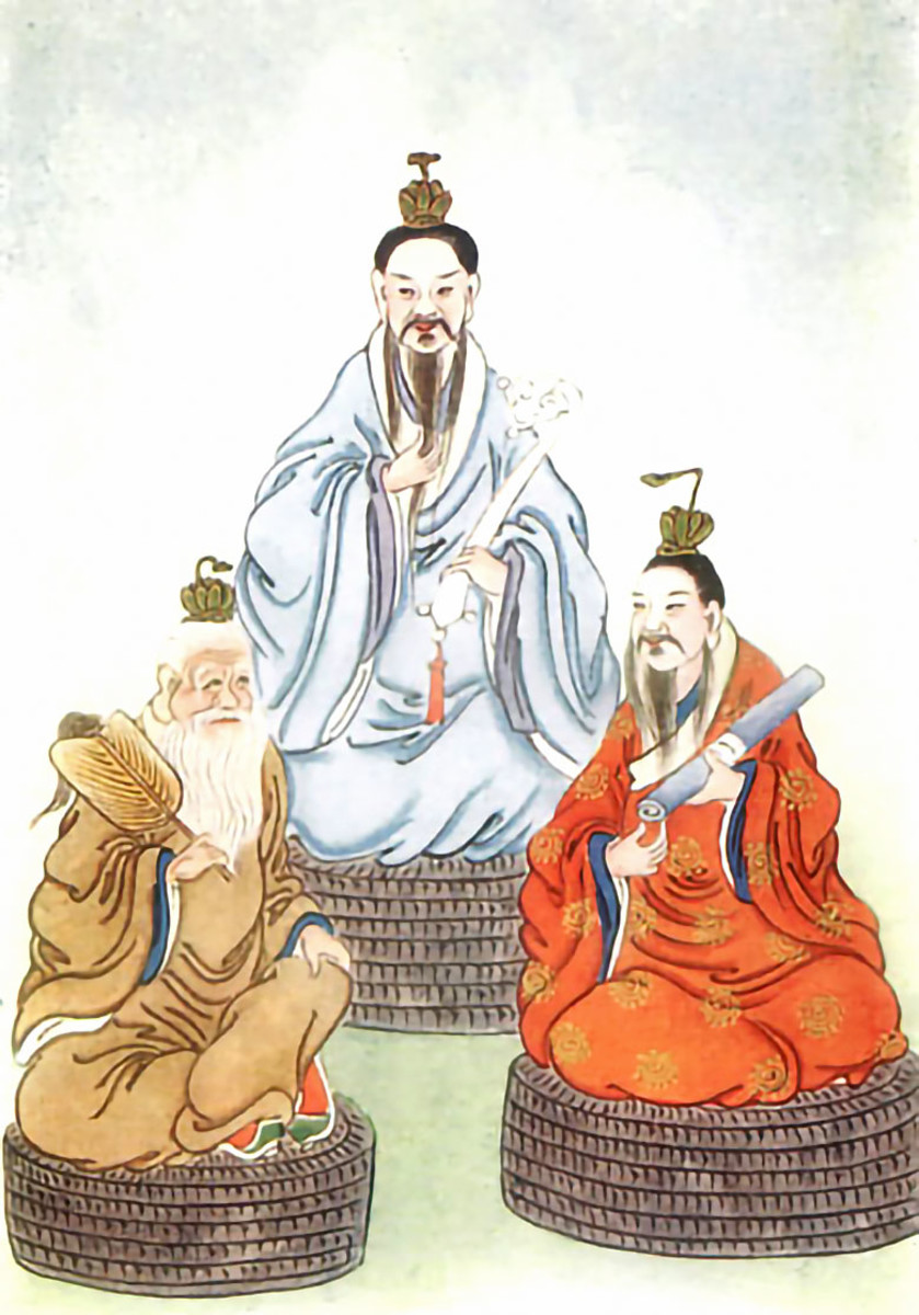 Artistic depiction of the Three Purities of Taoism.