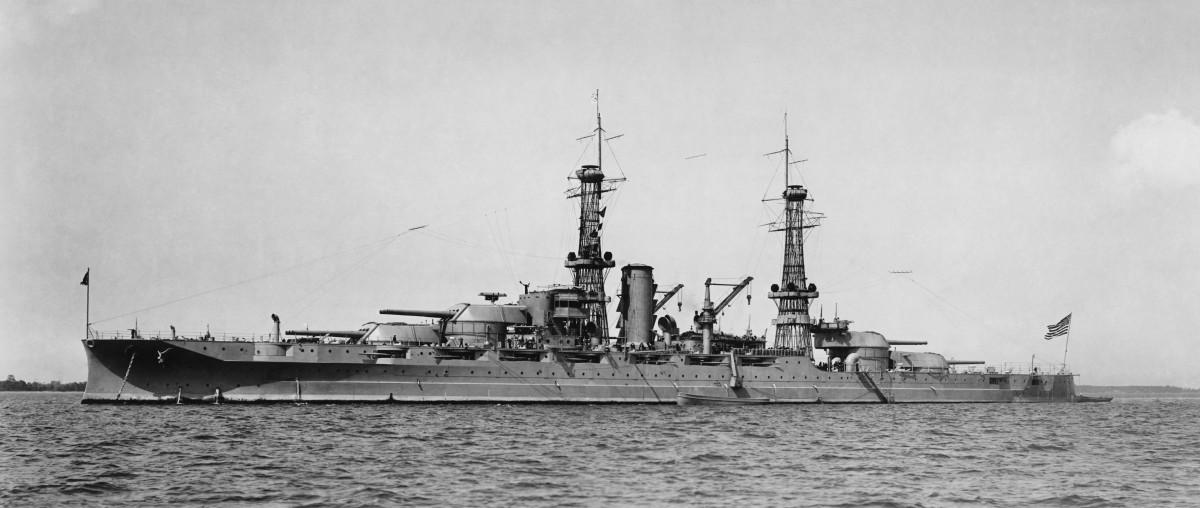 USS Arizona in her original configuration.