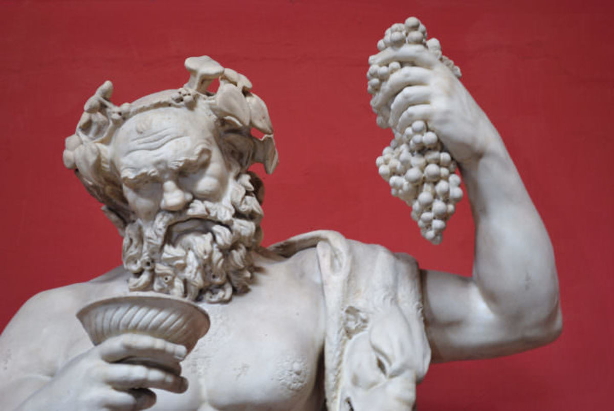 Dionysis Drinking Wine & Holding the Fruit of the Vine