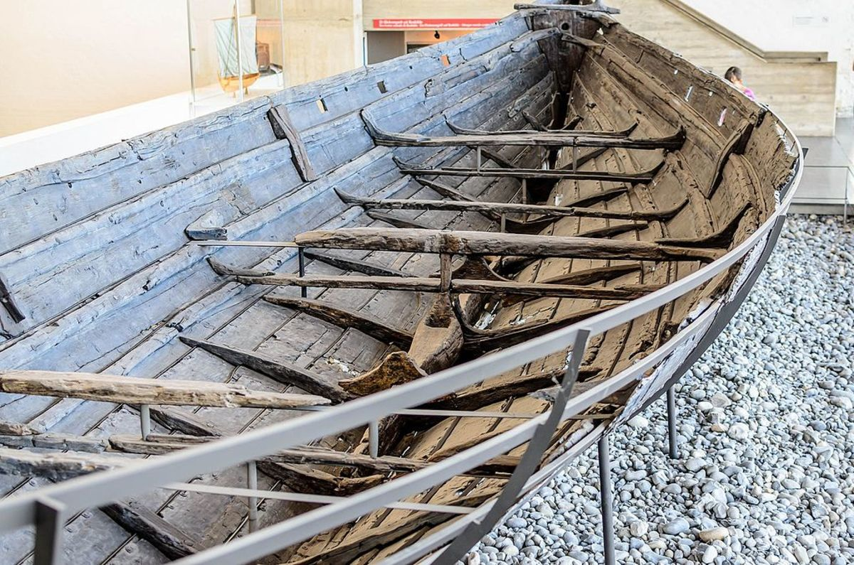 This actual viking hull from the Viking Museum in Roskilde, Denmark shows how open to the elements these seafaring vessels actually were.