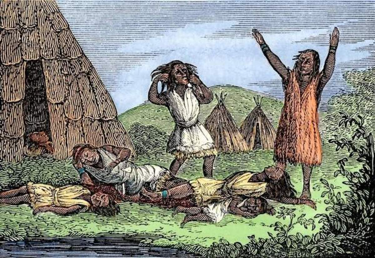 Diseases such as smallpox and measles spread far and wide in the New World causing much misery