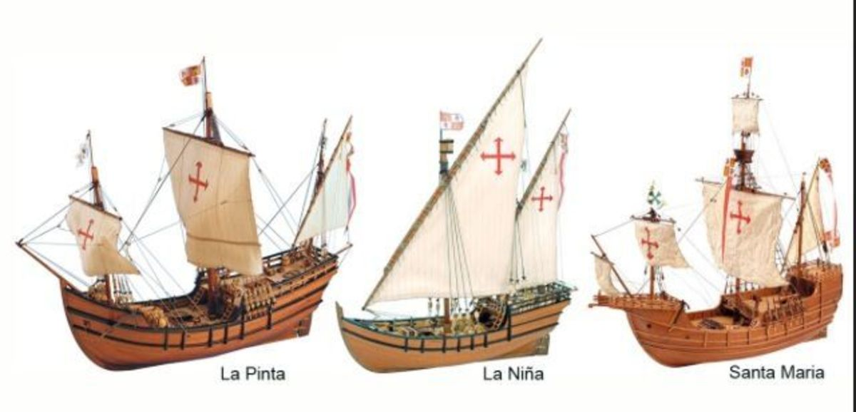 Seafaring watercraft in 1492 differed significantly from previous ships.