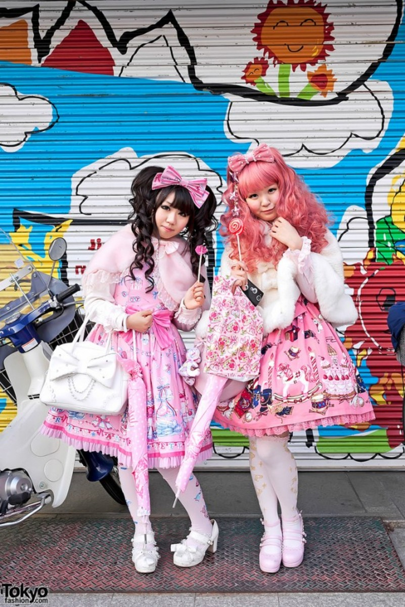 The harakuju girls of Tokyo. In a country of introverts and where compliance with social norms is almost mandatory, some members of society find ways to express their individuality.
