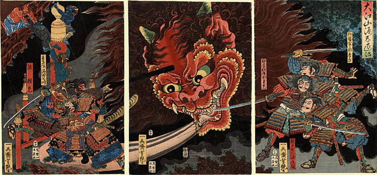 Edo period depiction of the slaying of Shuten Dōji.