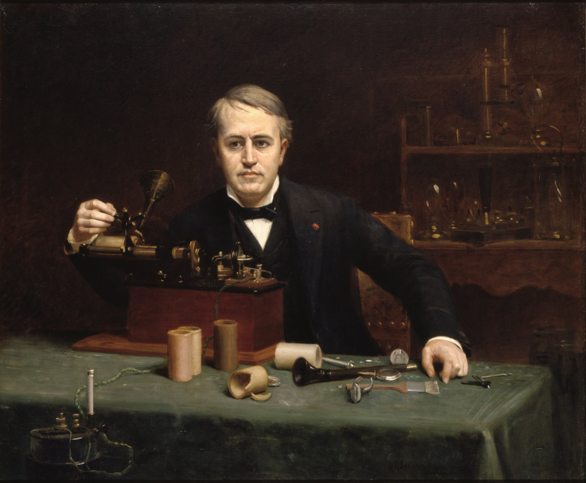 Portrait of Inventor Thomas Edison by Abraham Anderson (1890).