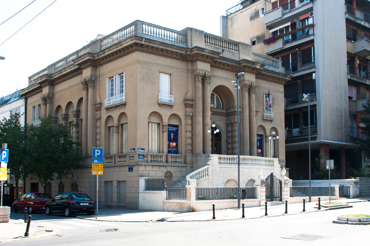 Nikola Tesla Museum in Belgrade, Serbia. The museum is dedicated to honoring and displaying the life and work of Tesla.
