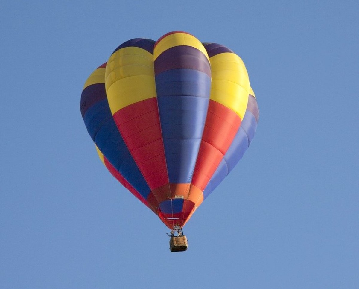 A hot air balloon.
