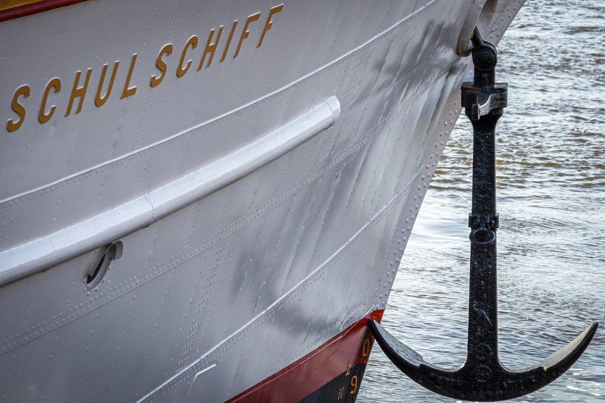 An anchor on a ship