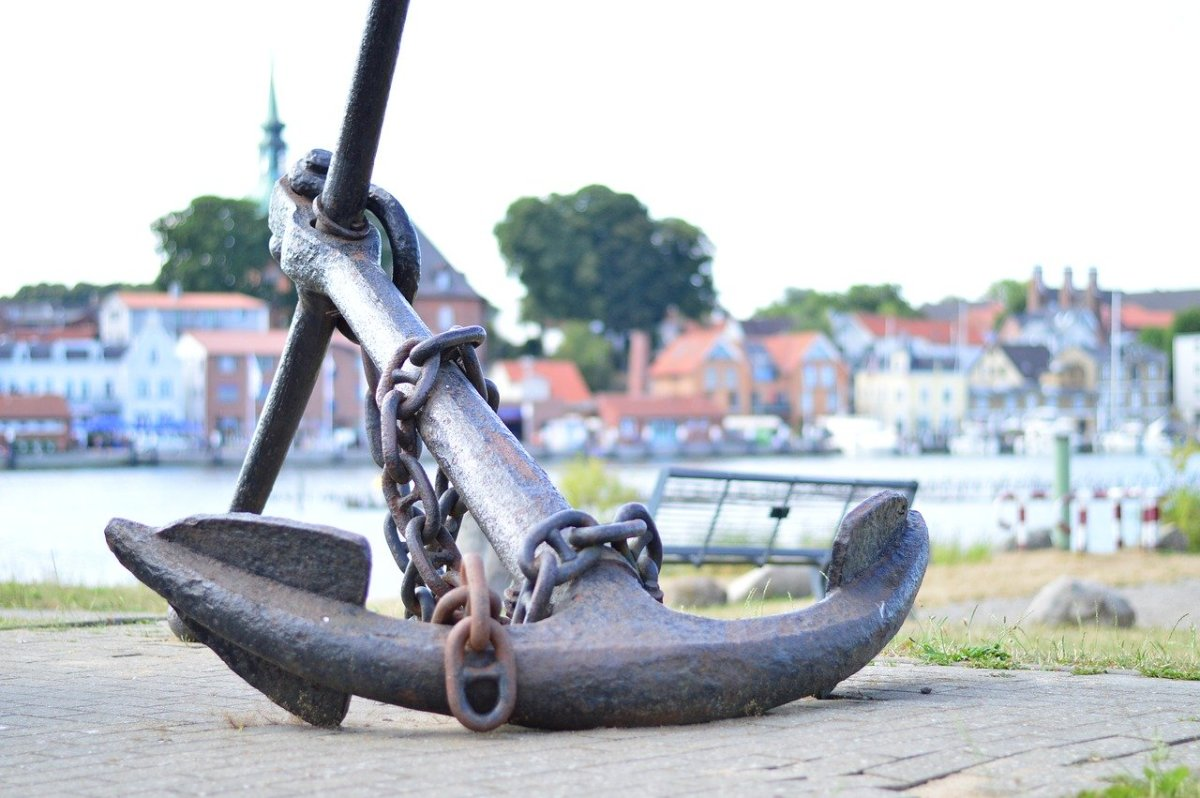 Large anchor.