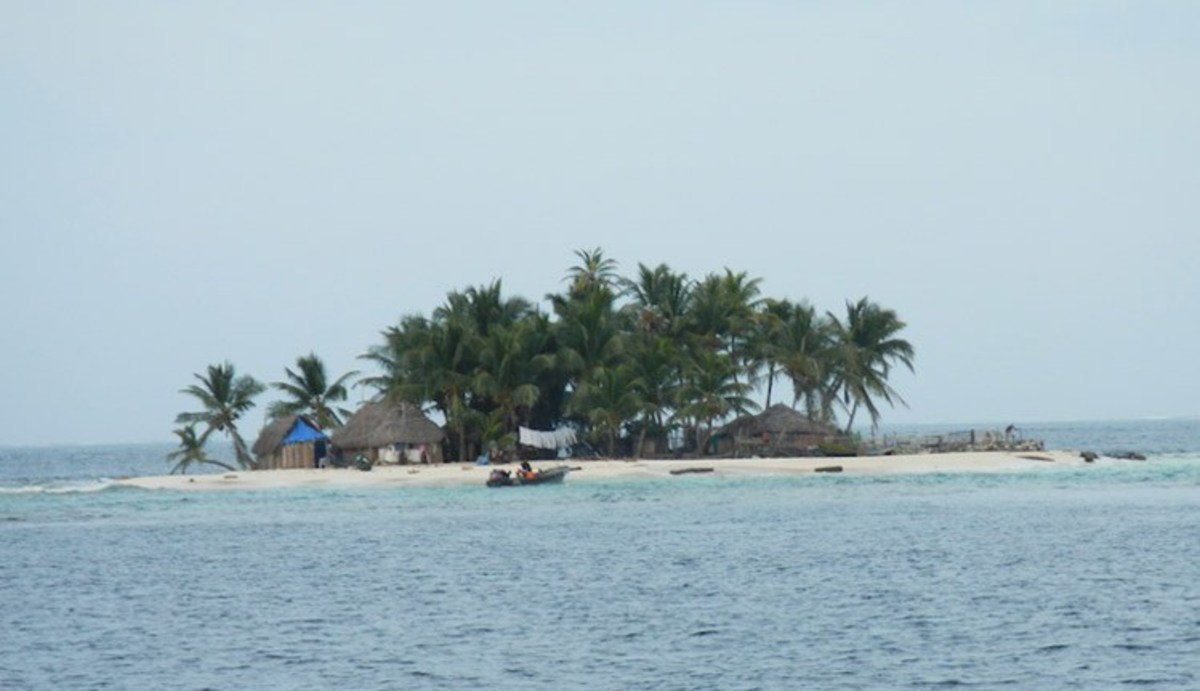 Island at risk of disappearing due to sea level rise.