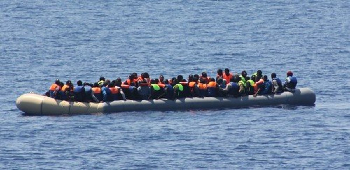 Migrants by the 100s of thousands cross the Mediterranean Sea to Europe in unseaworthy boats each year. More than 3,000 die in the attempt annually.