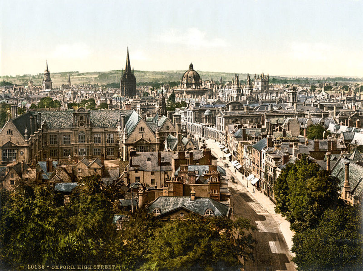 High Street, Oxford England, fictionalized by Thomas Hardy as the town of Christminster
