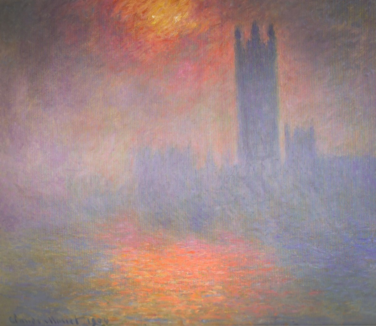 Claude Monet captured London's smog in 1904.