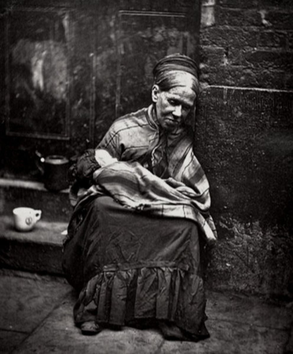 The pinched face of Victorian poverty.